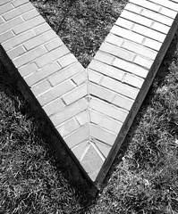 brick v (Remiss63) Tags: ranch blackandwhite bw house abstract brick home silhouette horizontal wall architecture modern wow design masonry stlouis angles modernism franklloydwright architect missouri kirkwood abstraction wright saintlouis residence modernarchitecture modernist kraus parallelogram usonian kirkwoodmissouri krausresidence architecturalruminations remiss63 russellkraus