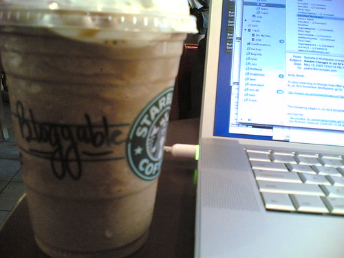 Bloggable coffee from Starbucks!