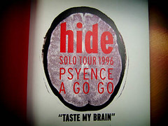 TASTE MY BRAIN (flame in sky) Tags: hide solo tour 1996 psyence taste brain