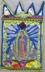 Our Lady of Guadalupe (sophiacreek (again)) Tags: 510fav wonderful wonder cards great holy shrines ourladyofguadalupe todossantos recycledcardboard interestingness379 i500