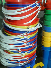 Plastic Buckets Findhorn Scotland