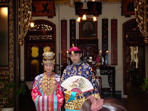 Baba y nyonya, una pareja Peranakan