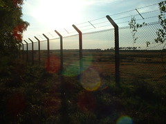 Air Force base, Rendlesham Forest - TOP SECRET! (Mark) Tags: rendlesham forest military base ufo suffolk lensflare fence