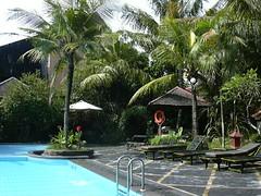 Swimmingpool of our hotel in Yogyakarta, Java, Indonesia. (Miek37) Tags: trip travel blue vacation holiday indonesia java asia southeastasia swimmingpool yogyakarta