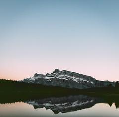 Mt Rundle (sulaiman.alkhudairy) Tags: canada banff nationalpark banffnationalpark twojacklake mtrundle rundle sunset nikon d750