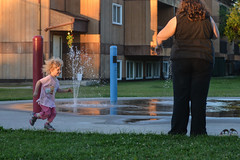 At the Splash Pad (Vegan Butterfly) Tags: people park playground spray splash water fun outside outdoor child kid girl cute adorable mother mom family
