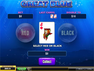 free Great Blue gamble feature