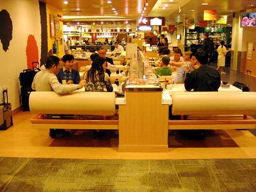 Restaurante en el Aeropuerto de Changi en Singapur