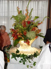 Kathie's flowers at wedding reception 013 (Gatherings Flowers) Tags: wedding leath