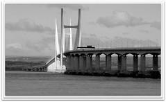 Second Severn Crossing (Donna JW) Tags: bridges secondseverncrossing severnbridge riversevern rivers severn blackwhite herowinner superhero gamewinner pregamewinner friendlychallenges thechallengefactory
