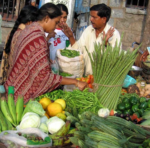 Ladies Buying Vegetables by Prato9x.