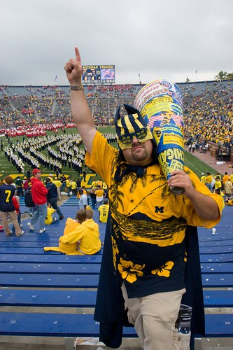 michigan fan at the big house