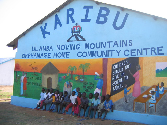 The Community Centre in Ulamba where gap teachers help with community projects