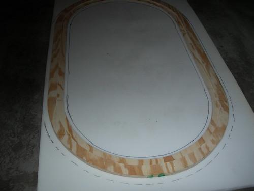 Marking the foam to cut