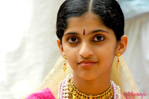 India Portrait Dhyanji Kerala Beauty Smile Indian Girls Faces Malayali