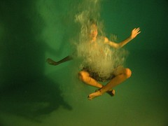 underwater meditation ( patric shaw) Tags: water yoga aqua wave bubbles fresh graceful shaw nightswim greenpool yogapose 35faves patricshaw patricshaw2007