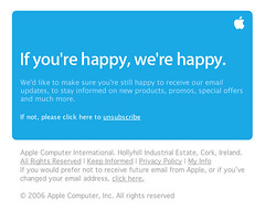 Good PR from Apple: If You're Happy We're Happy