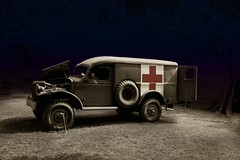 "They called it the ""Meat Wagon"" ((The) Appleman) Tags: dark army us illinois ominous military harvard wwii eerie ambulance spooky ww2 dodge reenactment worldwar2 meatwagon novaman396 fotocreations"