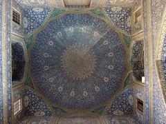 I Love my City (Alieh) Tags: architecture iran persia mosque ceiling esfahan isfahan historicalplace aliehs alieh jameabbasimosque