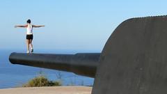 PEACE (joaquinportela) Tags: espaa topv111 lumix spain espanha gun peace topv222 panasonic cannon bateria espagne cartagena spanien fz30 vickers caon mapspain cabotioso kanonen 222v2f 111v1f castillitos judgmentday54 50club
