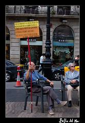 Politics (siborita) Tags: barcelona españa canon spain 300d protesta anciano cataluña catalan ramblas 100club politica elecciones 50club siborita