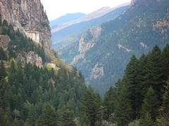 Sumela monastery in the distance