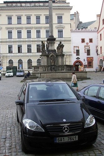Mercedes-Benz rental car in Cesky Krumlov