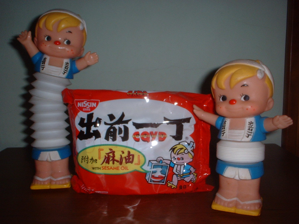 Nissin Instant Noodle with FREE Toy Bank 80s