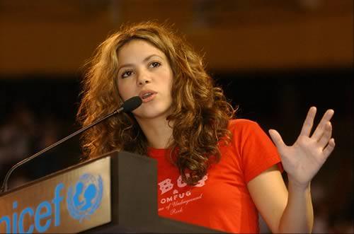 Shakira por UNICEF