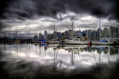 The Rainy Season of Vancouver (Stuck in Customs) Tags: world travel light sky canada storm reflection art beautiful rain vancouver clouds boats photography grey harbor boat photo nikon colorful downtown pretty cityscape gloomy searchthebest dynamic harbour yacht britishcolumbia ominous foreboding gorgeous gray d2x dream fresh divine professional adventure international rainy photograph stunning record yachts top100 charming foreign fabulous technique rainfall hdr tutorial trey artisitic engaging travelphotography ratcliff nikonstunninggallery d2xs hdrtutorial stuckincustoms imagekind treyratcliff focuspocus stuckincustomsgooglescreensaver soetop50spotsfordaydreamers