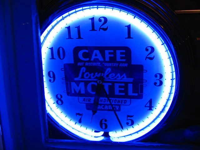 Loveless Cafe Neon Clock