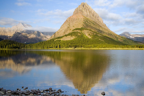 On the Shore of Swiftcurrent Lake