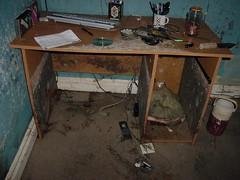 My room-Post Katrina (Nola Nate) Tags: wet computer katrina bedroom louisiana desk interior room neworleans hurricane dirty disaster messy disgusting mold nasty stinky humid mildew