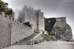 The Castle (Renmarc) Tags: italy castle nature fog photoshop landscape flickr italia play experiment favorites medieval more views sicily faves favs hdr paesaggio erice trapani mistery interestingess renmarc