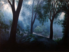 Forest Mist (athos~*) Tags: blue mist art forest painting landscape interesting oilpainting oiloncanvas abigfave flickrdiamond