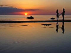 Two at the evening sun (marika_te) Tags: sunset sea summer love nature water bravo couple natural latvia latvian peopleschoice thebalticsea marikate specnature fivestarsgallery abigfave impressedbeauty superaplus aplusphoto flickrdiamond superhearts frhwofavs ultrashot