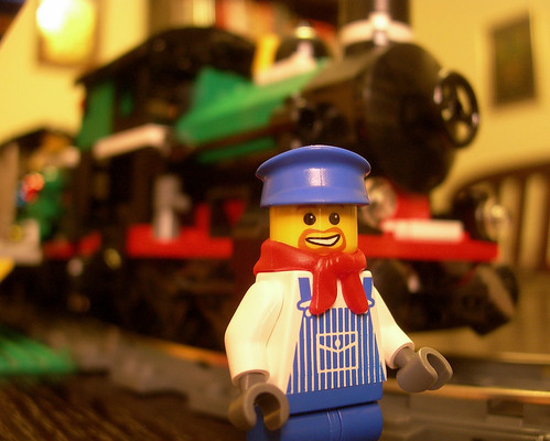 LEGO engineer and engine