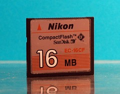 A Nikon branded Compact Flash card