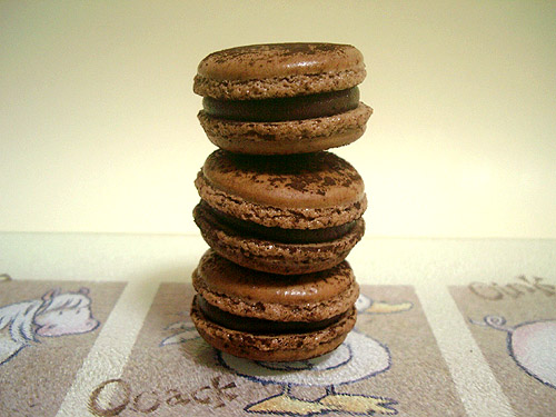 Trio of Chocolate Macarons