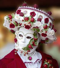 Carnevale costume- Strawberryman (Outlaw_Pete) Tags: carnival venice costumes red italy strawberry mask masks venetian venise carnevale masque masques damncool goldenphotographer colourartaward