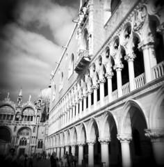 Ducale (J.T.R.) Tags: travel venice blackandwhite bw italy europe european holga120s travelphotography