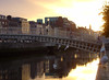 Ha'penny Bridge At Sunset (mattrkeyworth) Tags: sunset dublin sony hapennybridge p12 dscp12 mattrkeyworth
