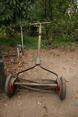 antique lawn homestead mower pushmower thanksgiving2006 harshfamily