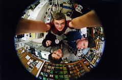 Fisheye View of Blue Moon (Zeb Andrews) Tags: oregon portraits portland fun ca