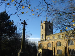 A little Autumn sun (Jaxpix50) Tags: cameraphone november autumn sun stpeters church bluesky burnley jaxpix50 jackiehsouth