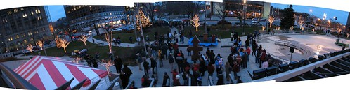 Red Arrow Park before Tree Ceremony -- milwaukee park red arrow purpleslog tree 2006 christmas november christmastreelighting redarrowpark ceremony