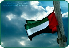 Emaraty (Cherie) Tags: red sky white black green day flag country uae ad national cherie