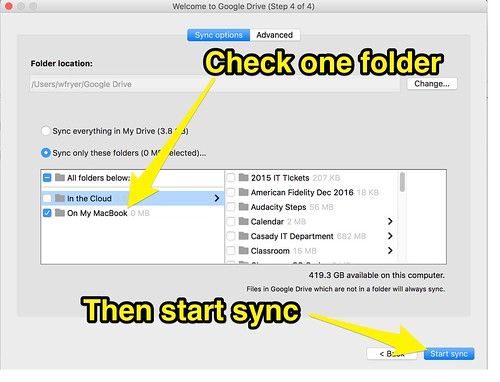 Step 5 - Set Sync Options by Wesley Fryer, on Flickr