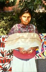 Otomi Woman Bazar Sabado Mexico City (Teyacapan) Tags: city woman angel mexico mujer san capes textiles puebla sabado bazar bordado pablito indigena otomi quechquemitl