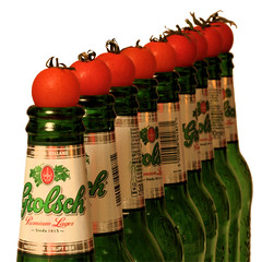 Red & Green nonsense (PhotoGraham) Tags: red colour green beer tomato bottle dof revolution grolsch tomatobeer photomato utatacollection explore:position=201